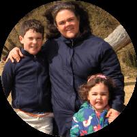 Lee with her children - Stubborn Mule Travel