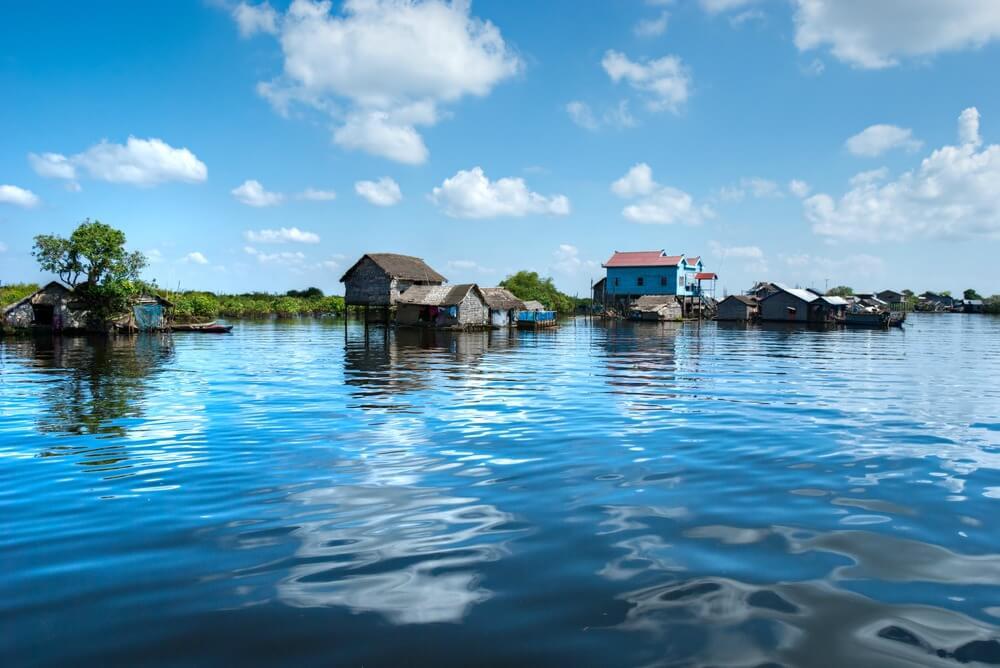 Floating houses,Tonle Sap Lake