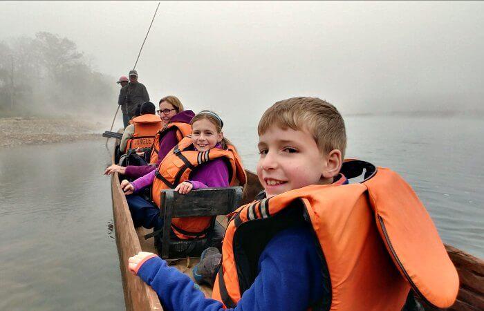 Nepal itineraries - kids boating