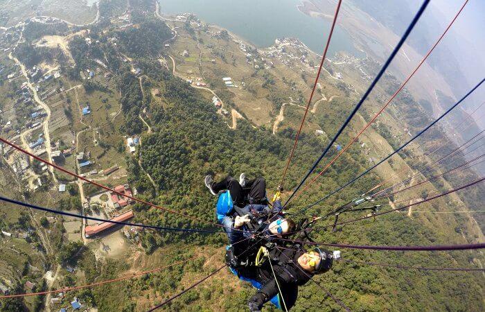 Paragliding at Pokhara - Nepal family holiday activity
