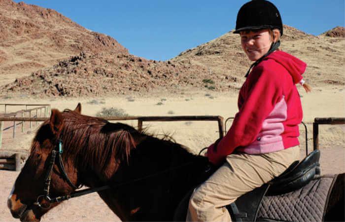 Horse riding in Namibia - Namibia family holidays