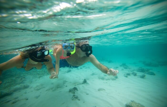 Belize family holiday - family snorkelling