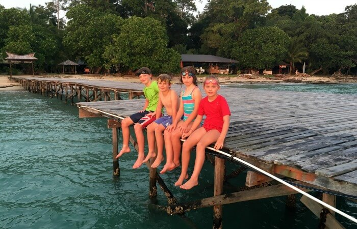 Borneo Family Holidays - Sitting on the dock of the bay