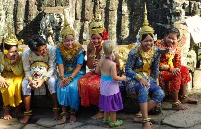 Cambodia family holidays - Cambodian dancers