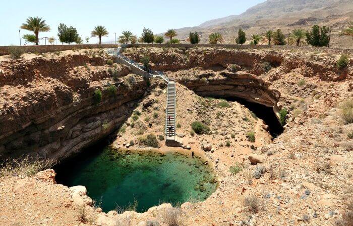 Family holidays to Oman - Bimmah Sink Hole