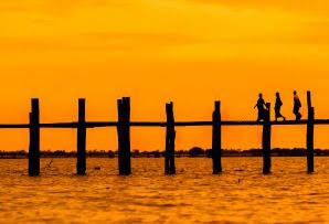 Myanmar itineraries - Burma itineraries - Bein Bridge at sunset