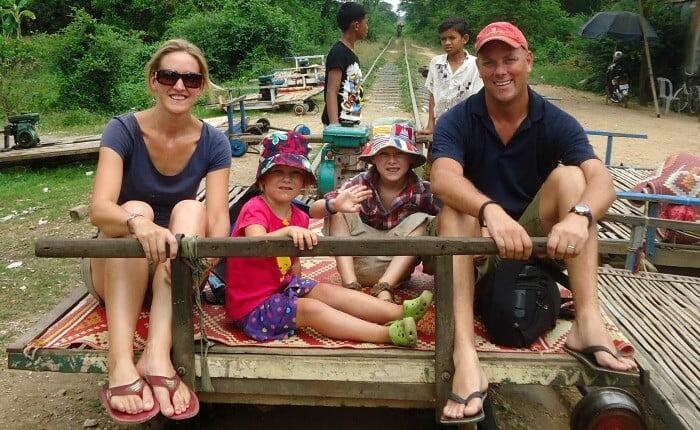 Places to Visit  - Bamboo train Battambang 700x430