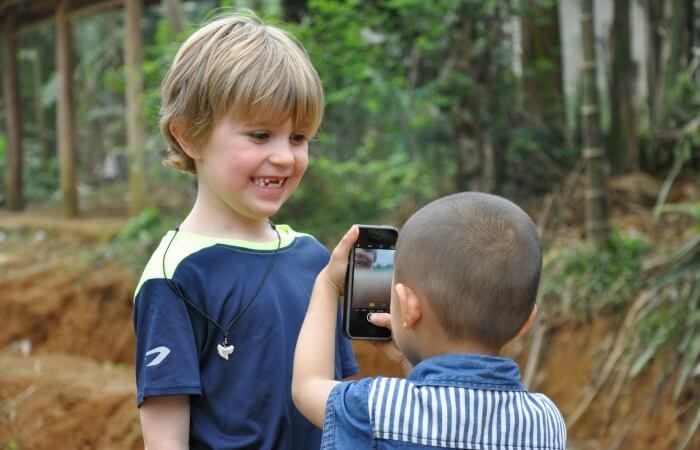 Vietnam family holidays - kids taking photos