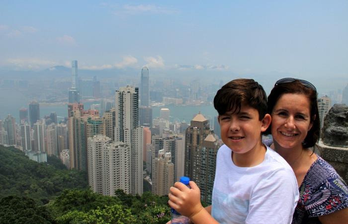 china family holidays - view of Hong Kong from the Peak