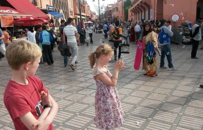 Morocco customer reviews - street scene