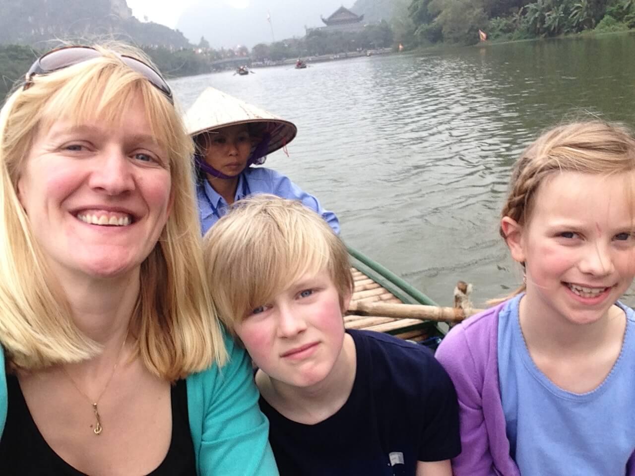 Vietnam with kids - Ninh Binh boat ride