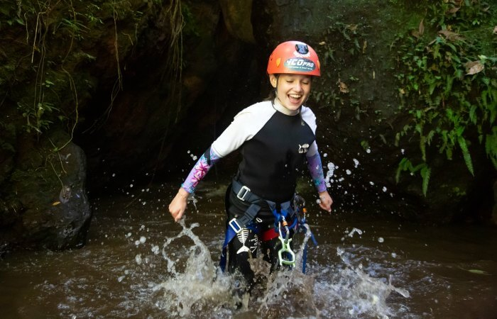 Canyoning in Indonesia on Bali family holiday