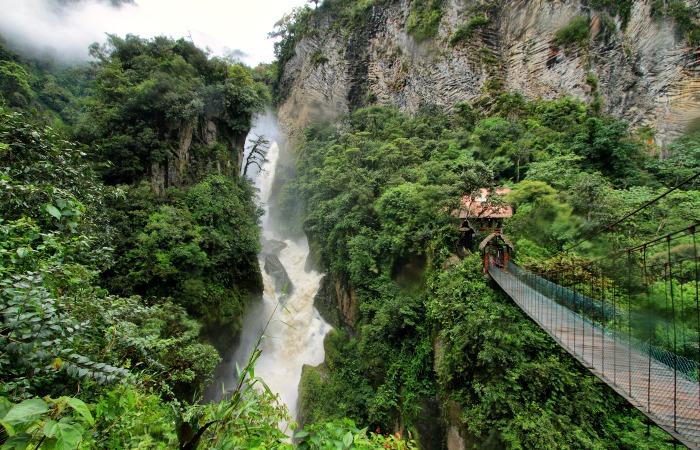 Banos - Pailon del Diablo waterfall - Ecuador family holidays