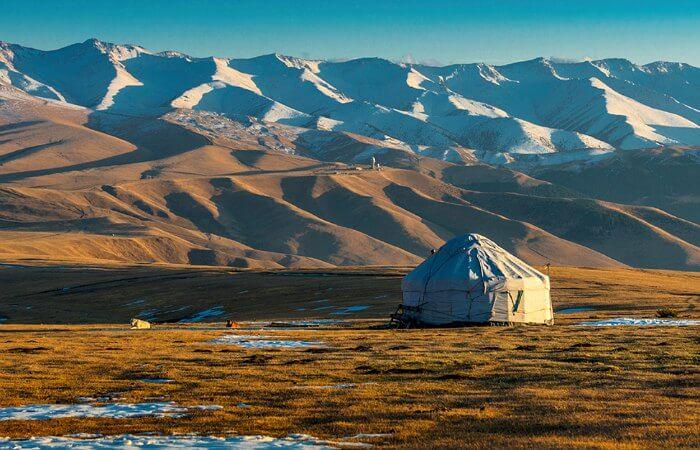 Yurt in the Gobi desert