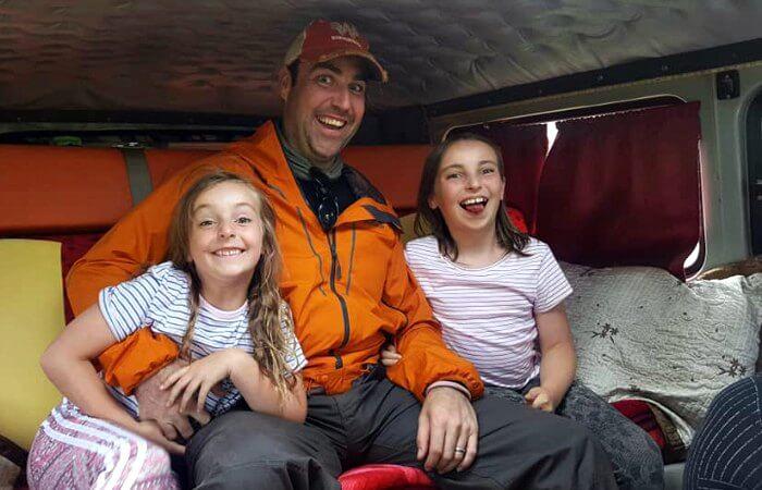 Inside a Furgon van - Mongolia family holidays