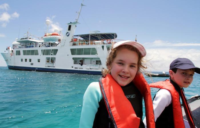 Galapagos family holidays - chidden on a Galapagos cruise