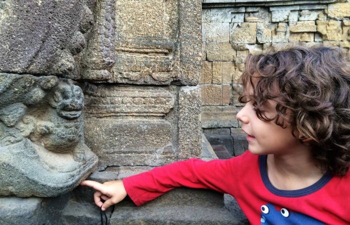 Bali family holidays - exploring ancient temple