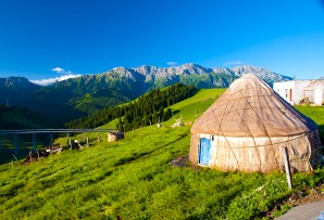 Mongolia family itineraries - Ger also known as Yurt in lush mountain scenery