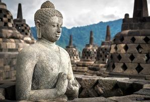 Indonesia & Bali family itineraries - Buddha statue at Borobudur