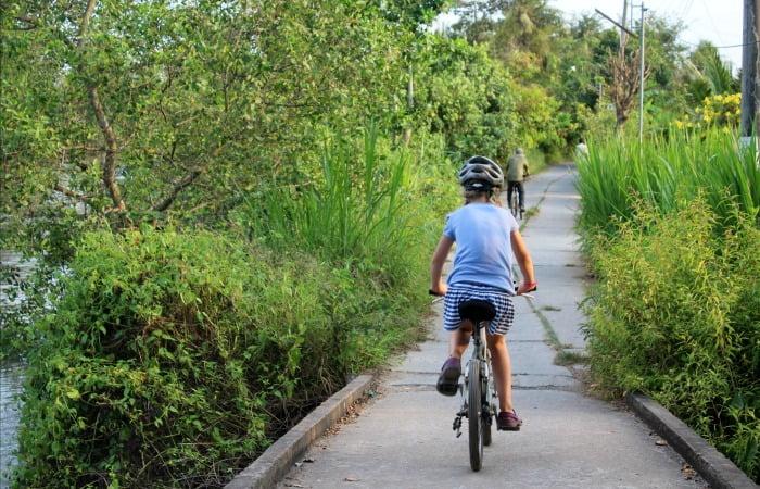 Vietnam with kids - Biking in the Mekong Delta