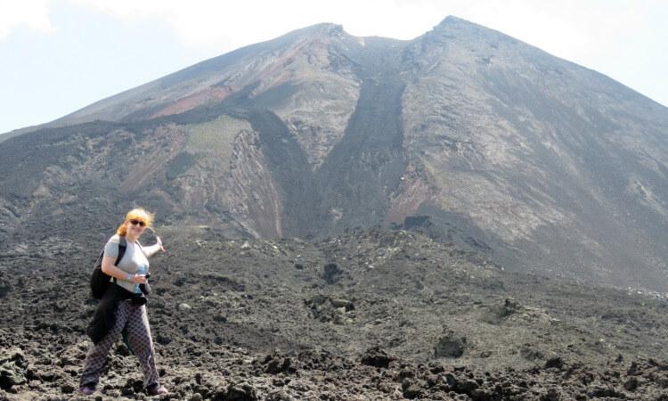 Guatemala family holiday - volcano hike
