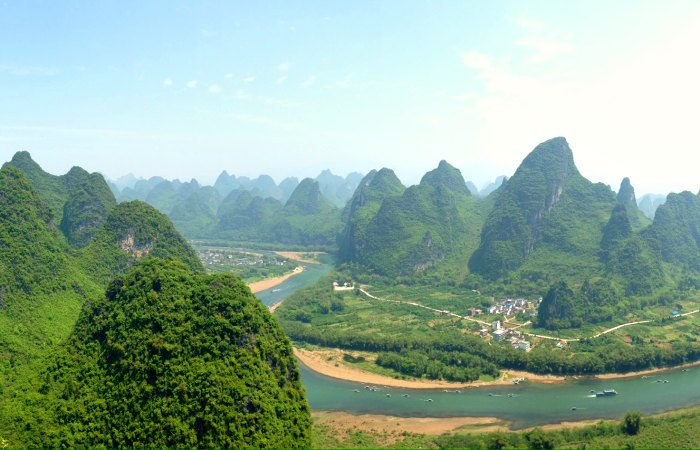Khast scenery in China - the backdrop to our family bike rides