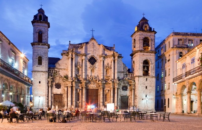Family Christmas breaks - photo of Plaza de la Catedral, Havana