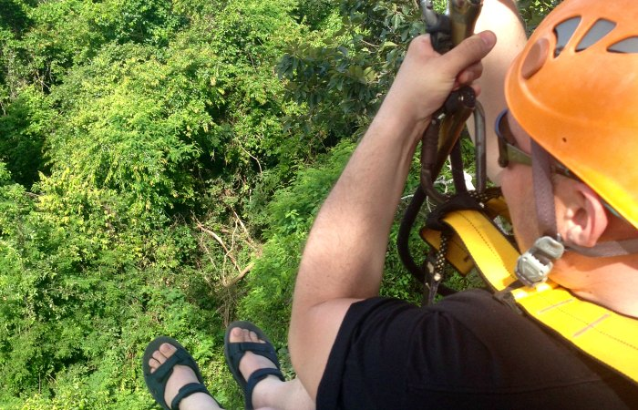 Ziplining - Flight of the Gibbon - Cambodia blog