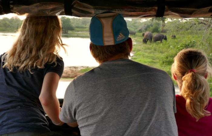 On safari - Sri Lanka with kids holiday