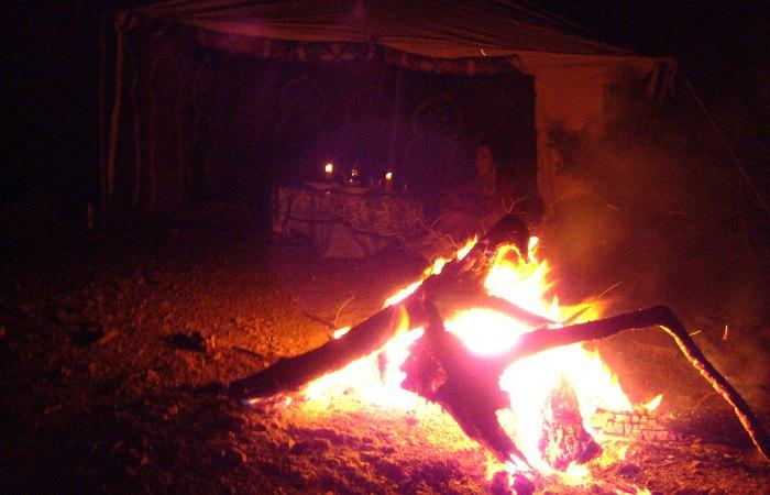 Berber Beach Camp - camp fire - family adventure holidays