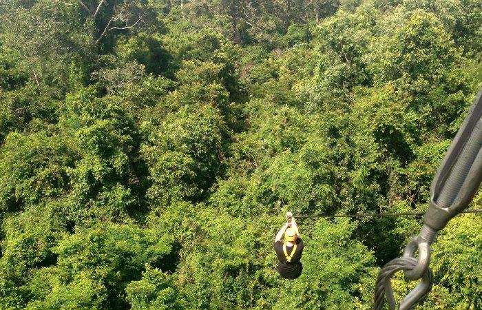 Flight of Gibbon at Angkor Wat - family adventure holidays in Cambodia