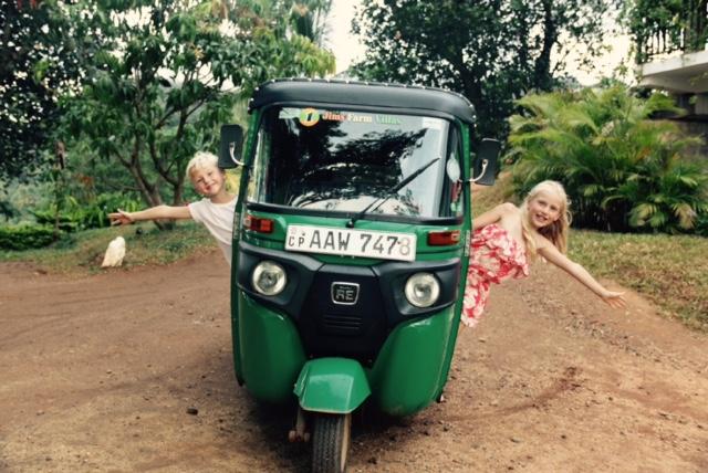 Family adventure holidays in Sri Lanka - fun on a Tuk Tuk