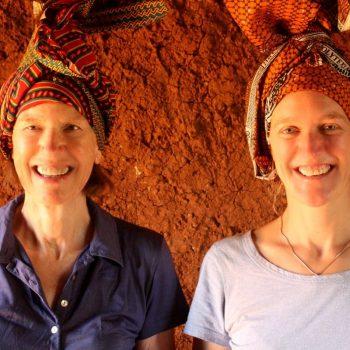 Tanzania with kids head dresses
