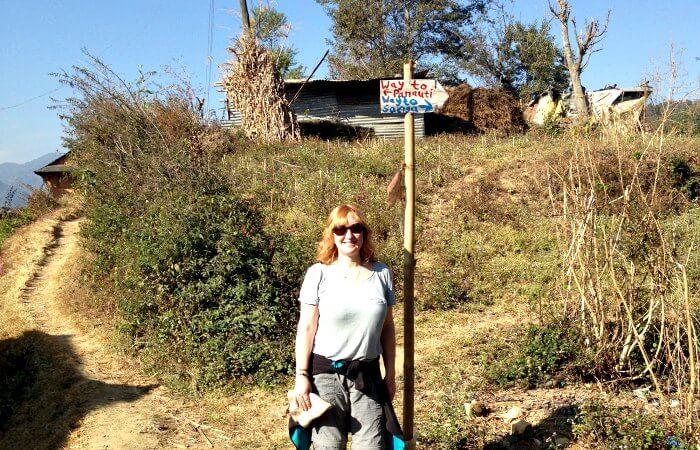 Nepal photo blog - Kelly hiking in Nepal