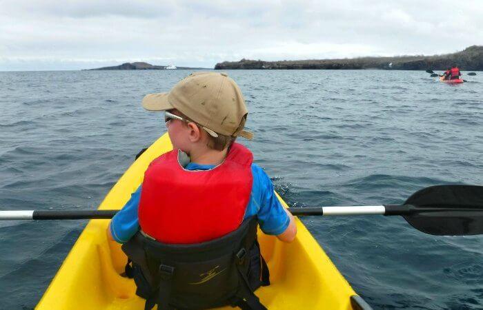 Kayaking on Galapagos with kids holiday
