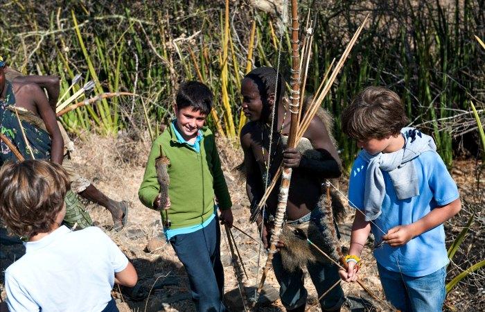 Making bow and arrow on a Tanzania safari holiday