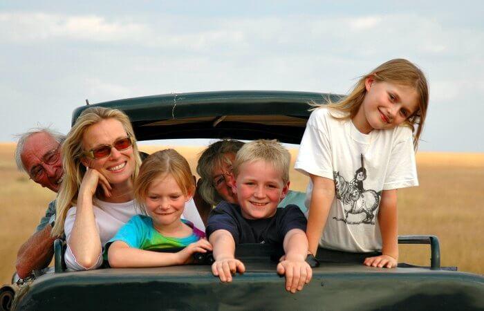 On safari - holidays with grandparents