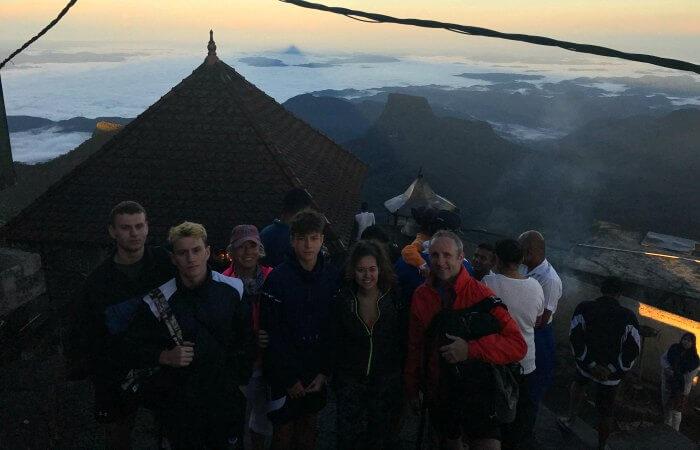 Adam's Peak summit at dawn - 50th birthday celebration