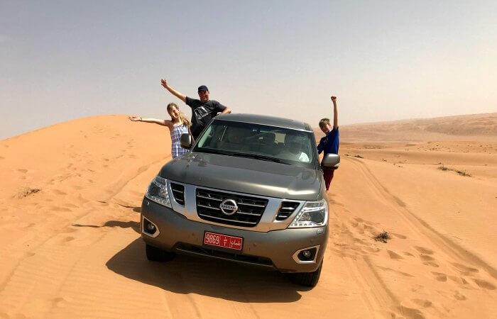 Oman with children - dune bashing
