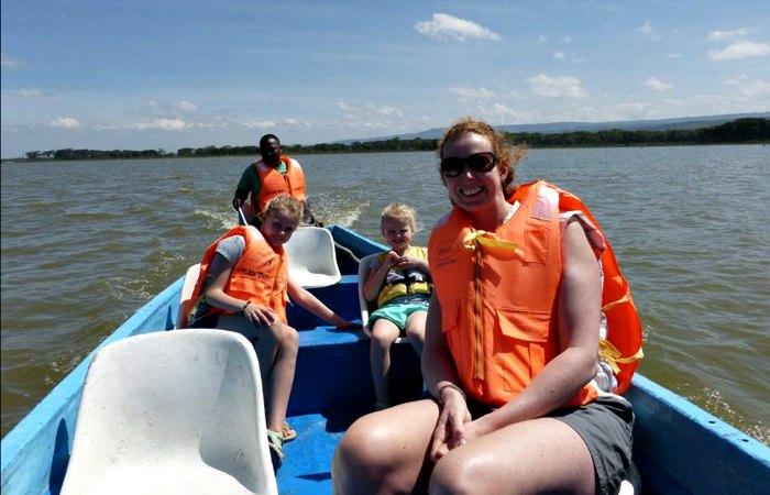 Boat trip on Lake Naivasha - Kenya with kids holiday