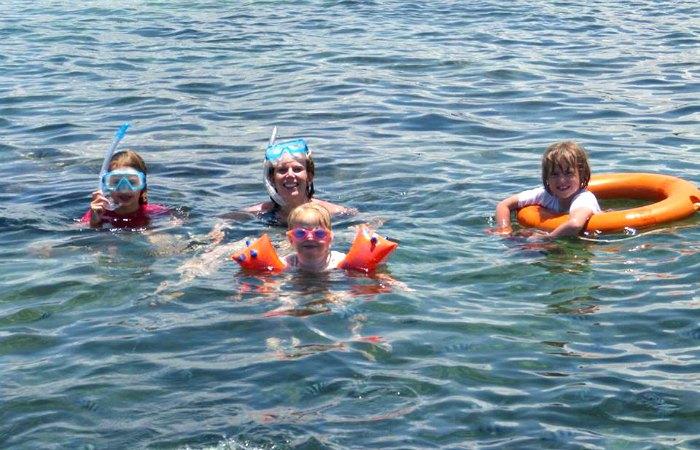 Snorkelling in Kenya with kids