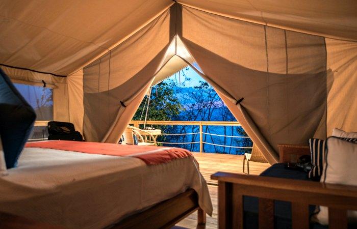 Luxury tented room at Isla Chiquita