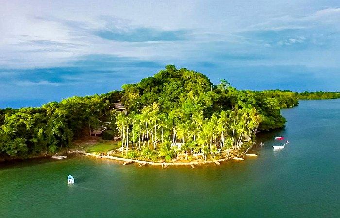 Isla Chiquita aerial view - self-driving in Costa Rica trip