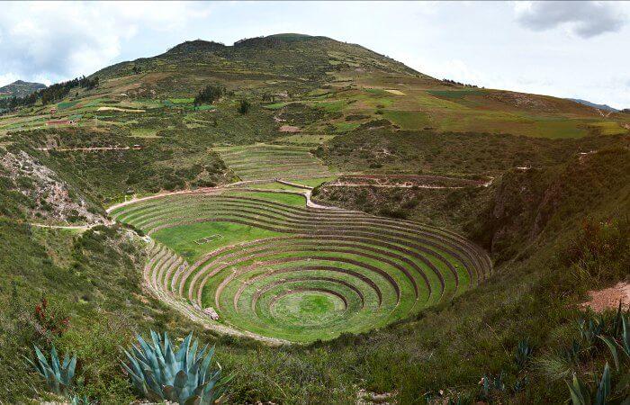 Inca circles Moray - touring Peru trip