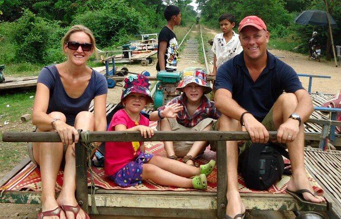 Battambang train - Cambodia with children itinerary