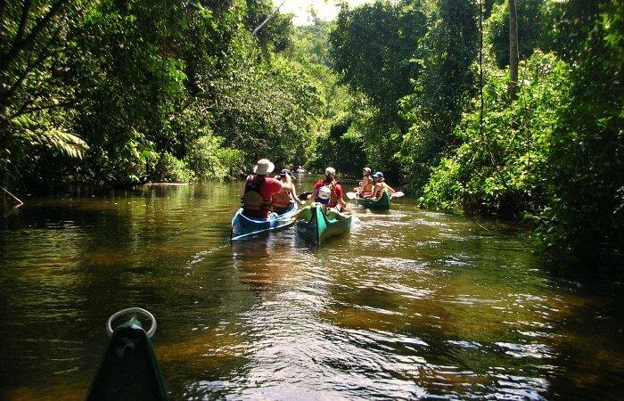 Canoe trip - family adventure holidays in Paraty - Brazil