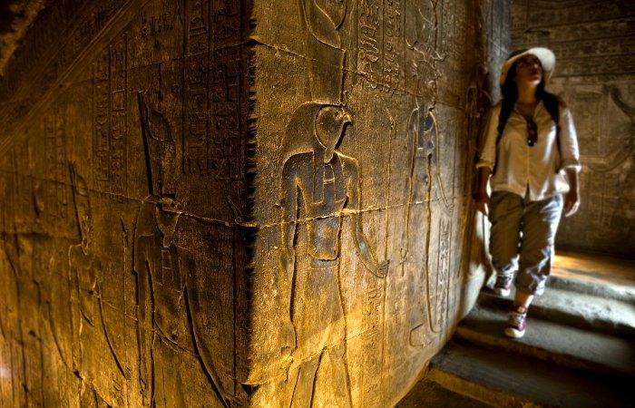 Exploring Edfu Temple - Egypt with kids holiday