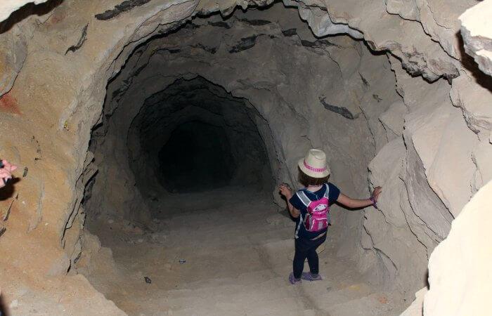 Shobak Castle tunnel - Jordan with kids