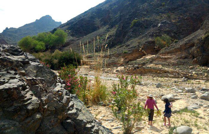Jordan with kids holiday - Wadi Feynan hike near Dana