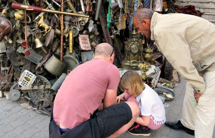 Jordan with kids - at the Souk